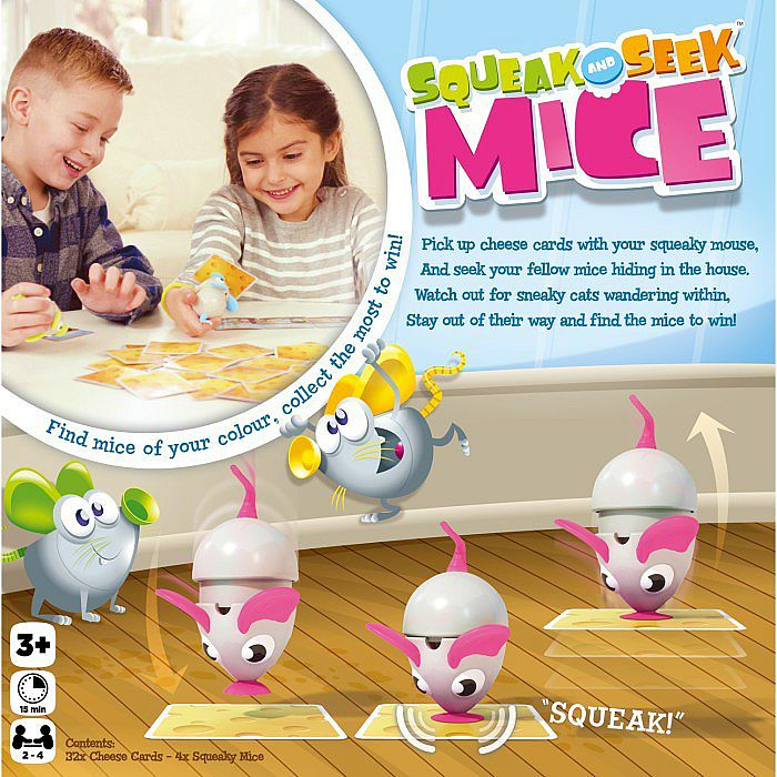 Squeak & Seek Mice ( Original ) Board Game - Mainan Edukasi